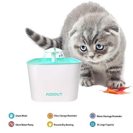 Gato / Perro Fuentes de Agua Automáticas Bebederos Silencio Flor Fuente de Agua 2L Eléctrico Automático