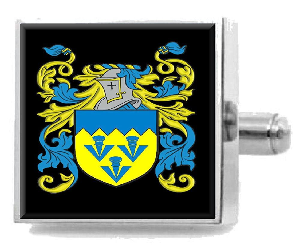 Select Gifts Keck Wales Heraldry Crest Sterling Silver Cufflinks Engraved Message Box
