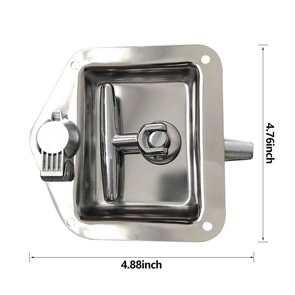 Ninth-City Car Truck Trailer Camp Stainless Steel Folding T Shape Handle Lock Tool Latch by Ninth-City (Image #5)