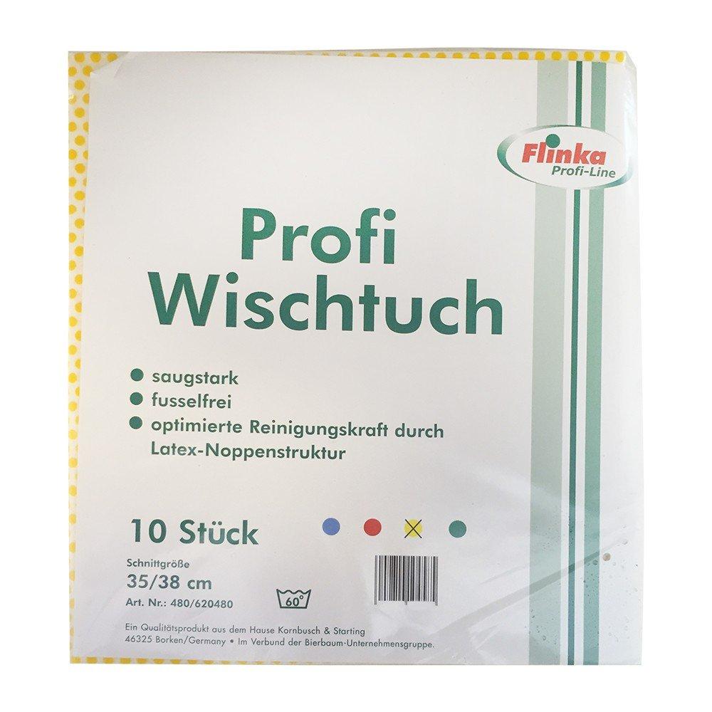 flinka profesional Wiper látex de estructura granulada wischtücher 35 x 38 cm Lunares Amarillo (10 unidades. Paquete): Amazon.es: Hogar