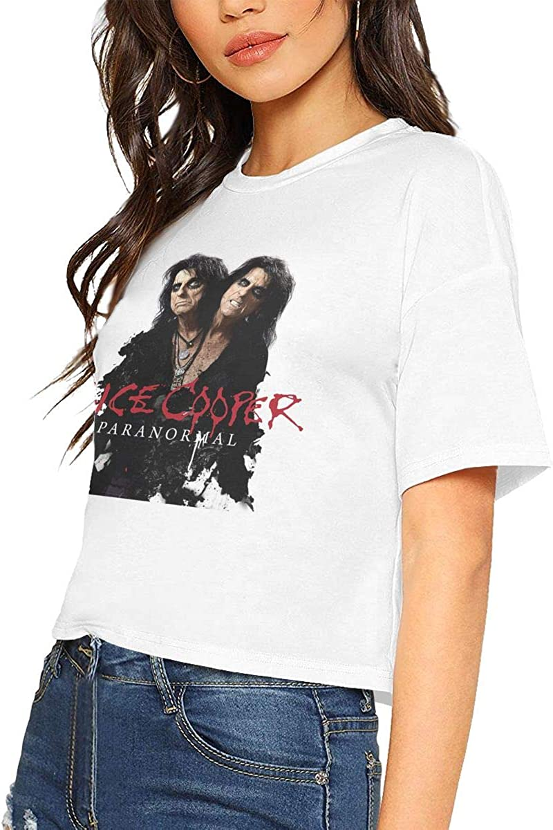 Alice Cooper Woman Stylish Short Sleeve T-Shirt