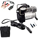 Automaze Heavy Duty Metal 12V DC Electric Car Air Compressor Pump Tire Inflator With Bag & Alligator Clamps