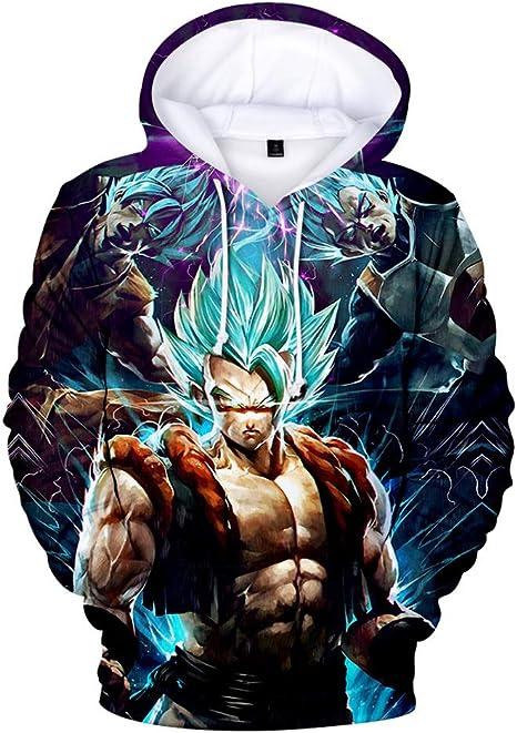 Erica Goku Hombres Dragon Ball Encapuchado Camisa de Entrenamiento ...