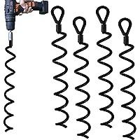 Jayzod 18 Inch Spiraal Aarde Grond Heavy Duty Shed Anker Kit Ideaal als Hond Tie Out Spel Beveiligen Dieren, Tenten…