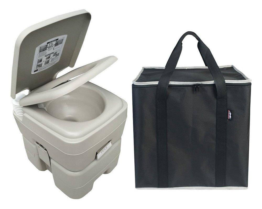 Portable Boat Toilet : Coleman large portable flush toilet boat camping ebay