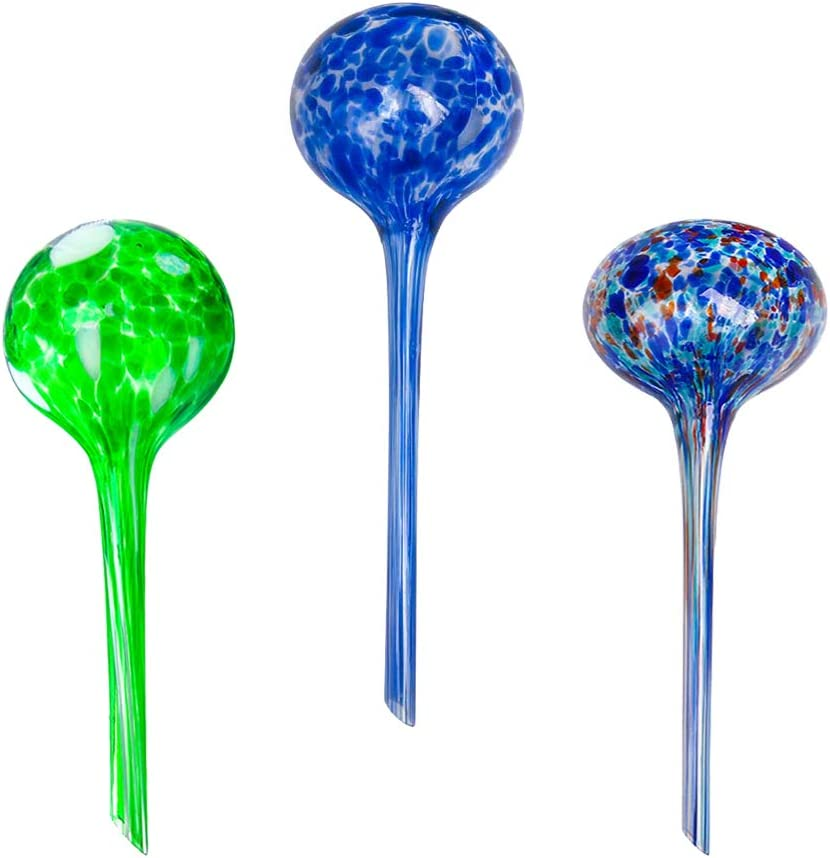 brands Wyndham House House System 3-Piece Globe Set,Colorful Hand-Blown Glass Plant Water