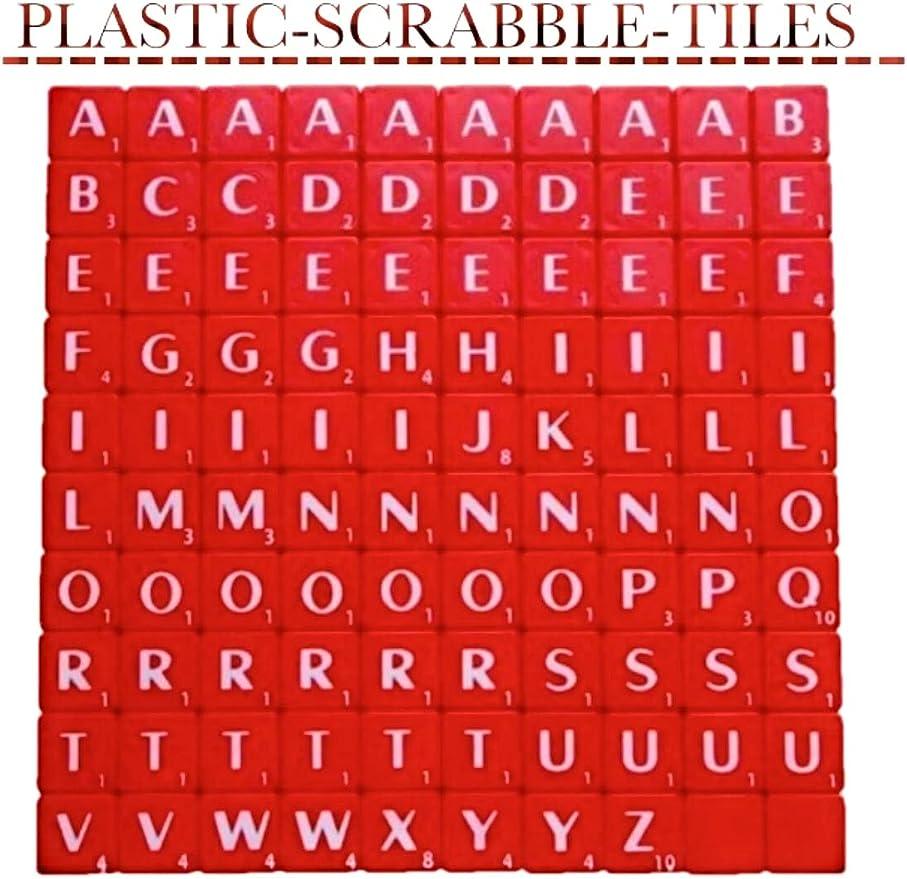 Scrabble - 100 fichas de azulejos para arte y manualidades, álbumes de recortes, vendedor del Reino Unido rosso: Amazon.es: Hogar
