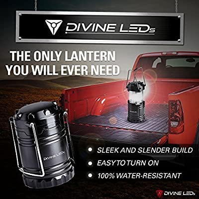 **FLASH SALE** [Super Bright] 2 Pack LED Lantern Flashlights - Best Seller -Camping Lantern - Collapses - Suitable for: Hiking, Camping, Emergencies, Hurricanes, Outages - Lightweight - Water Resistant - Divine LEDs