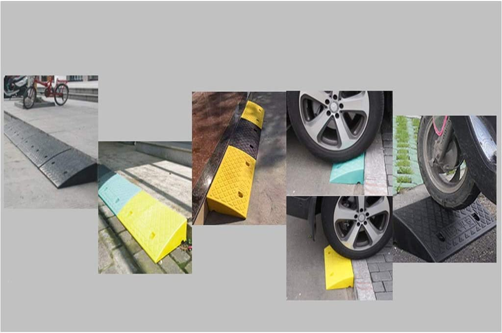 caravans Skateboards LXJYMX Kerb ramps Rubber Automotive Curb ramps Scooters Color : Black, Size : 502713CM Curb ramps wheelchairs Scooters Streets Solutions Kerb ramps Cars