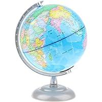 B Blesiya Mapa Mundial Esfera de Mundo Político con Soporte de Metal Juguete Educativo de Aprendizaje de Geografía 20cm - #5(con luz)