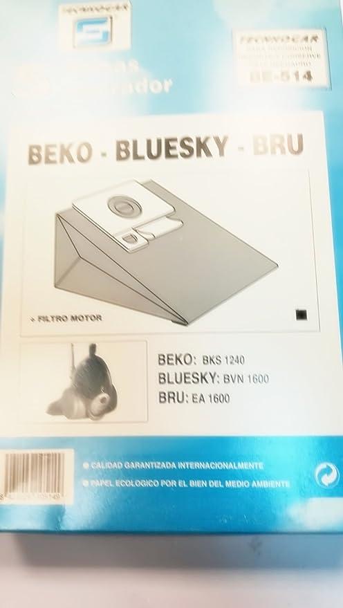 Taurus Bolsas Aspirador COMPATIBLES BEKO-BLUSKY-BRU: Amazon.es: Hogar