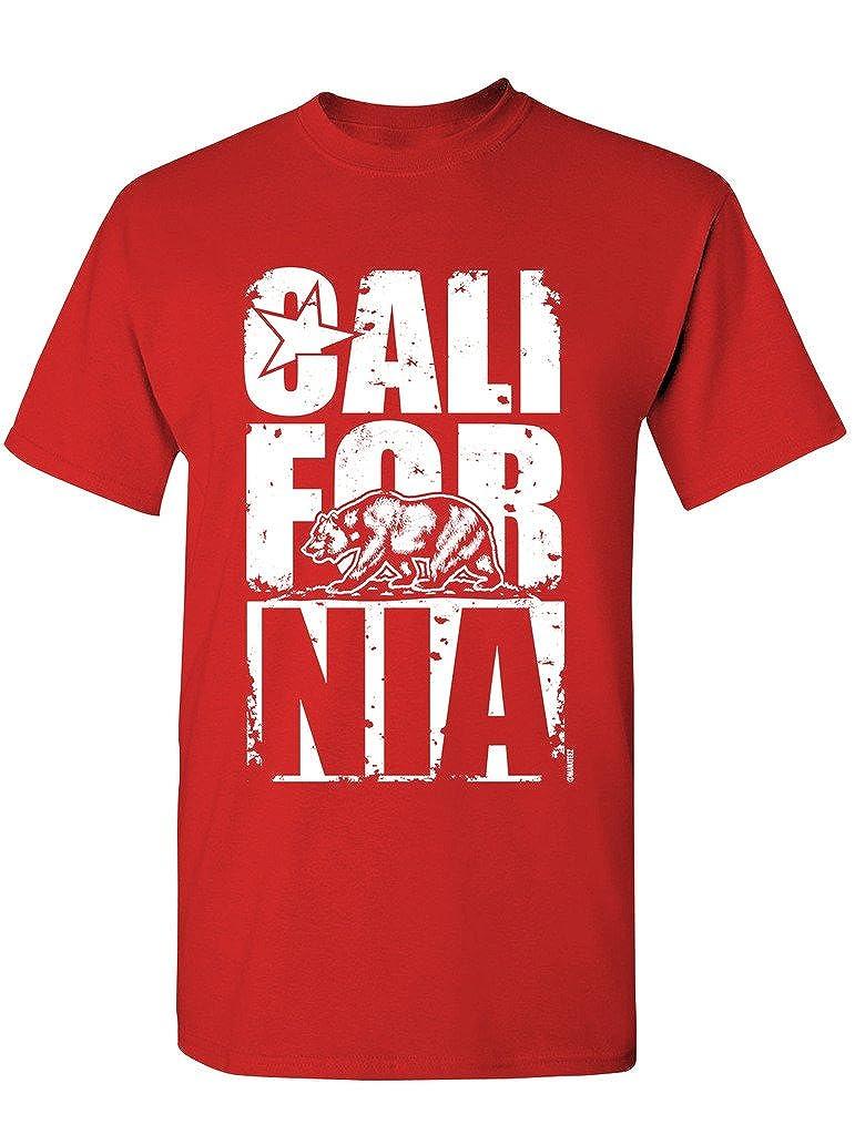 29fd8552f1 Amazon.com: Manateez Men's California Bear Block Letters Tee Shirt: Clothing