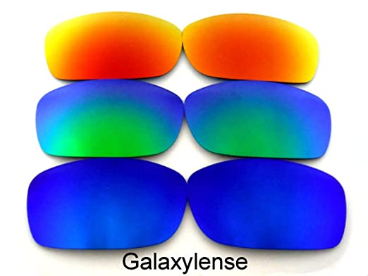 8c4e703998 Galaxy Replacement Lenses for Oakley Fives Squared Blue Green Red Color  Polarized 3 Pairs