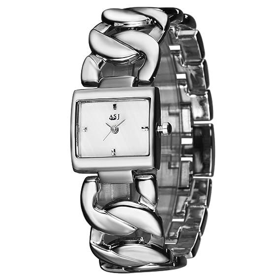 Pulsera de la marca de lujo oro mujeres Relojes Lady impermeable moda pulsera vestido reloj mujer