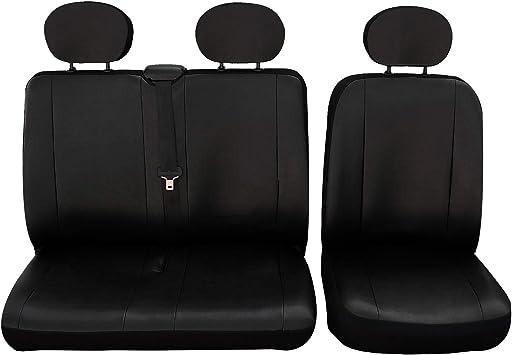 VW LT Schwarz Kunstleder Sitzbezüge VW Crafter für Fahrersitz