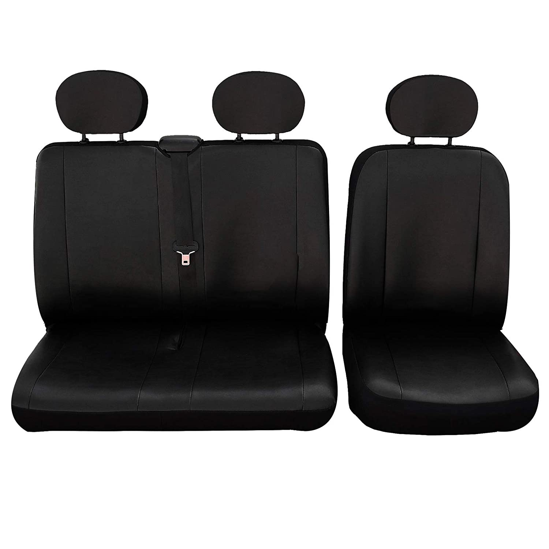 SITU SCSC0130 universal Sitzbezug Sitzbezü ge fü r Auto Transporter 1+2 Schonbezug Schoner Kunstleder schwarz