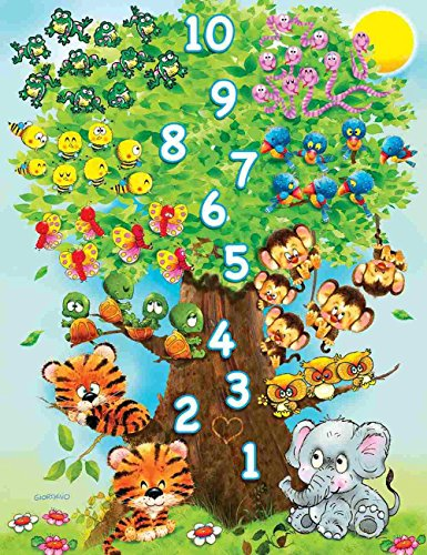 (Springbok Children's Jigsaw Puzzles - Counting Tree - 36 Piece Jigsaw Puzzle - Large 18 Inches by 23.5 Inches Puzzle - Made in USA - Extra Large Easy Grip Pieces)