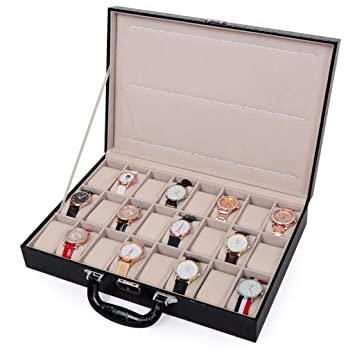 Amazon.com: SODDEY - Caja de almacenamiento para 24 relojes ...