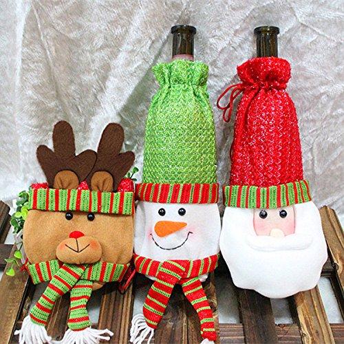 Newborn Boy Balloons Bouquet (Christmas Wine Bottle Bag Snowman Santa Claus Deer Dinner Party Christmas Table Decoration(Random:)