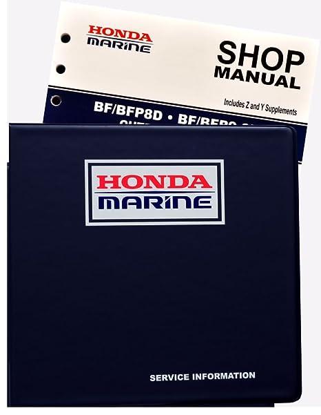 amazon com honda bf8 bf9 9 d model marine outboard service repair rh amazon com Auto Repair Manual Customer Service Books