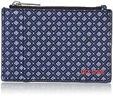 Jack Spade Men's Mosaic Tile Barrow Leather Flat Zip Wallet, Blue, One Size