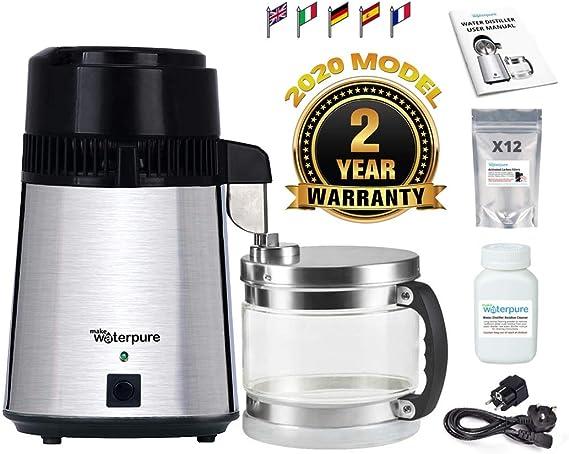 Make Water Pure Destilador de Agua, 100% Acero Inoxidable, Nuevo ...
