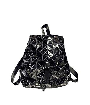 cf9d907ba8f23 Deaman Damen Groß Reise Backpack Einfarbig Lackleder Daypacks Mode  Geometrie Muster Rucksack Faltbar Pailletten Rucksäcke (