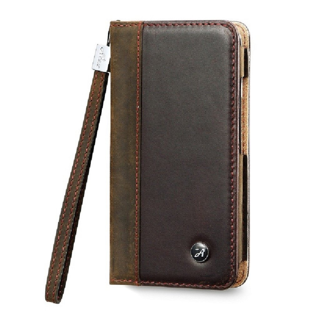 AceAbove iPhone 6 case, iPhone 6 4.7'' Wallet Case [Dark Brown] - Premium Genuine Leather Wallet Cover with [Card Slots] and [Strap] for iPhone 6 & iPhone 6s (Dark Brown)