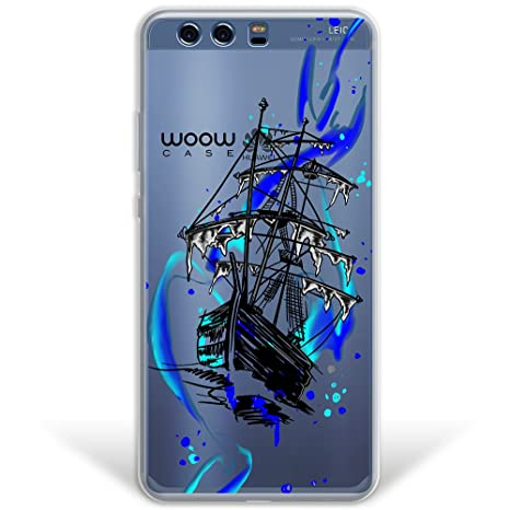 WoowCase Funda Huawei P10 Plus, [Hybrid ] Barco Fantasma ...
