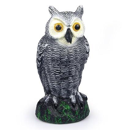 Lovely SCHOME Small Scarecrow Fake Owl Decoy   Garden Defense Owl   Bird Pest  Deterrent Repellent Scare