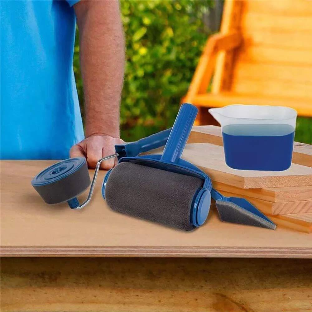 5 Saiko 5 pcs//set rouleau de peinture kit Professionnel Rouleau Peinture avec Reservoir Outil