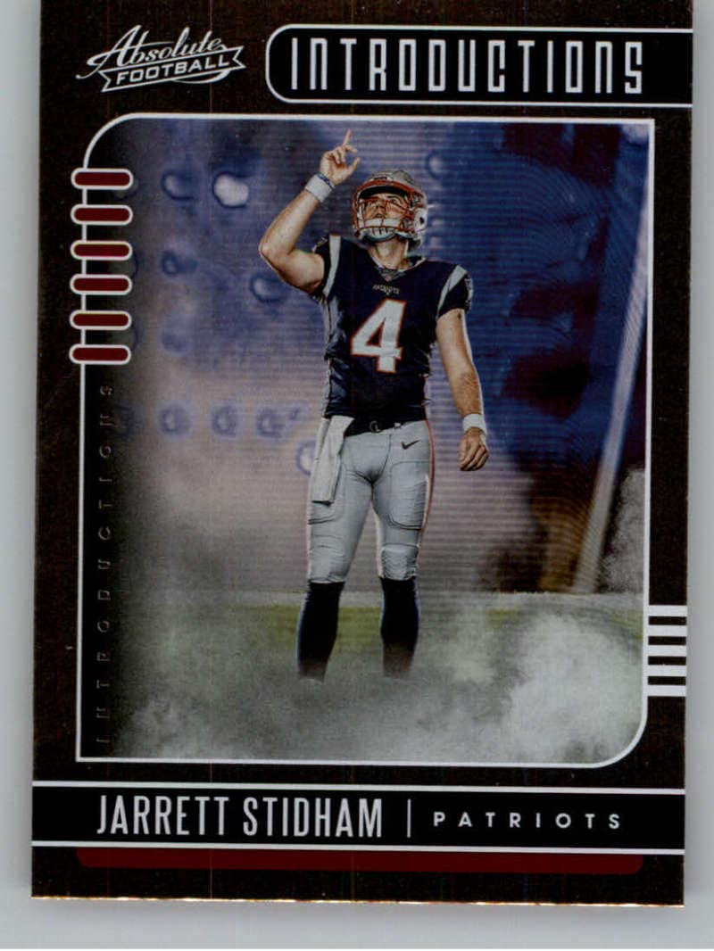 Amazon Com 2019 Absolute Introductions Football 10 Jarrett Stidham New England Patriots Official Nfl Trading Card From Panini America Collectibles Fine Art