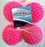 Black Duck Brand Dryer Balls 4 Pack Pink- Reusable Dryer Balls Replace Laundry Drying Fabric Softener and Saves You Money (8 pack also available)