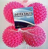 Black Duck Brand Dryer Balls 4 Pack Pink- Reusable Dryer Balls...