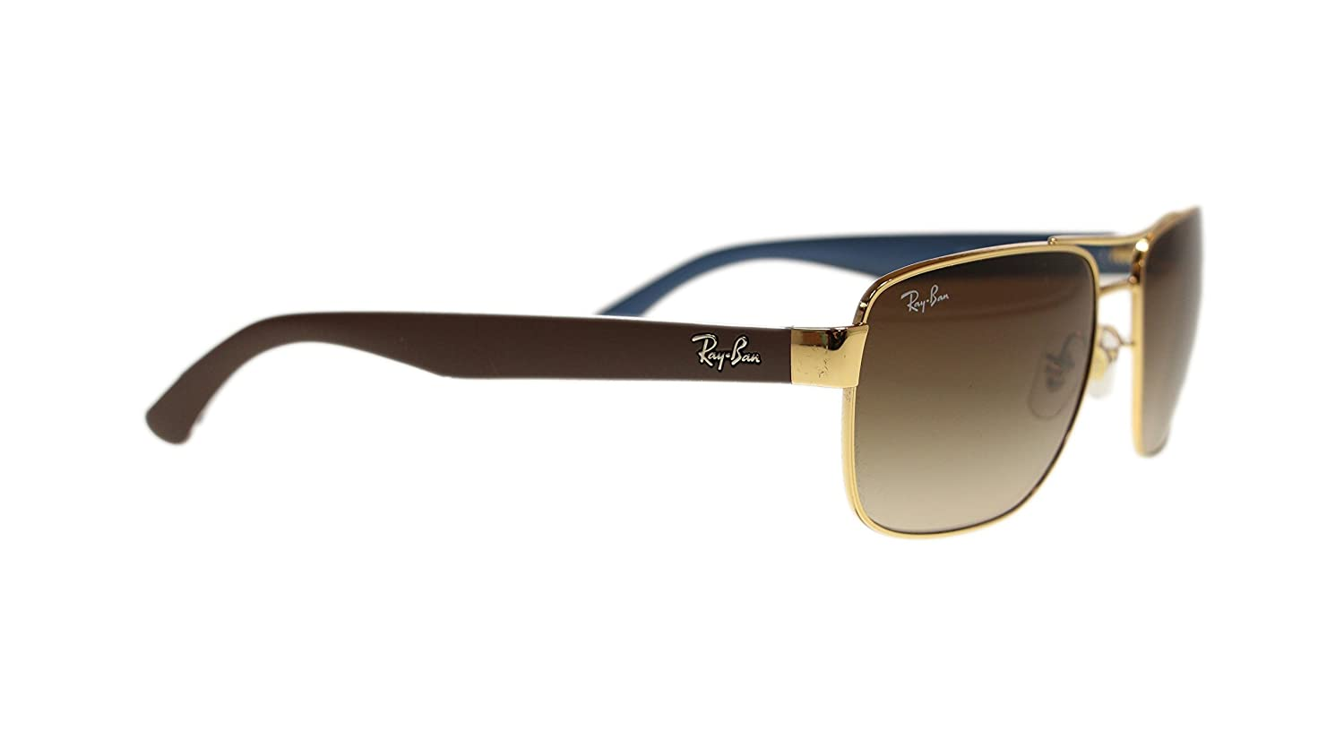 ada1c24925 Amazon.com  Ray Ban Mens Sunglasses RB3530 001 13 Gold Brown Gradient Lens  58mm Authentic  Clothing