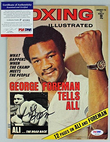 Bell Sports George Foreman Signed 1973 Boxing Illustrated...
