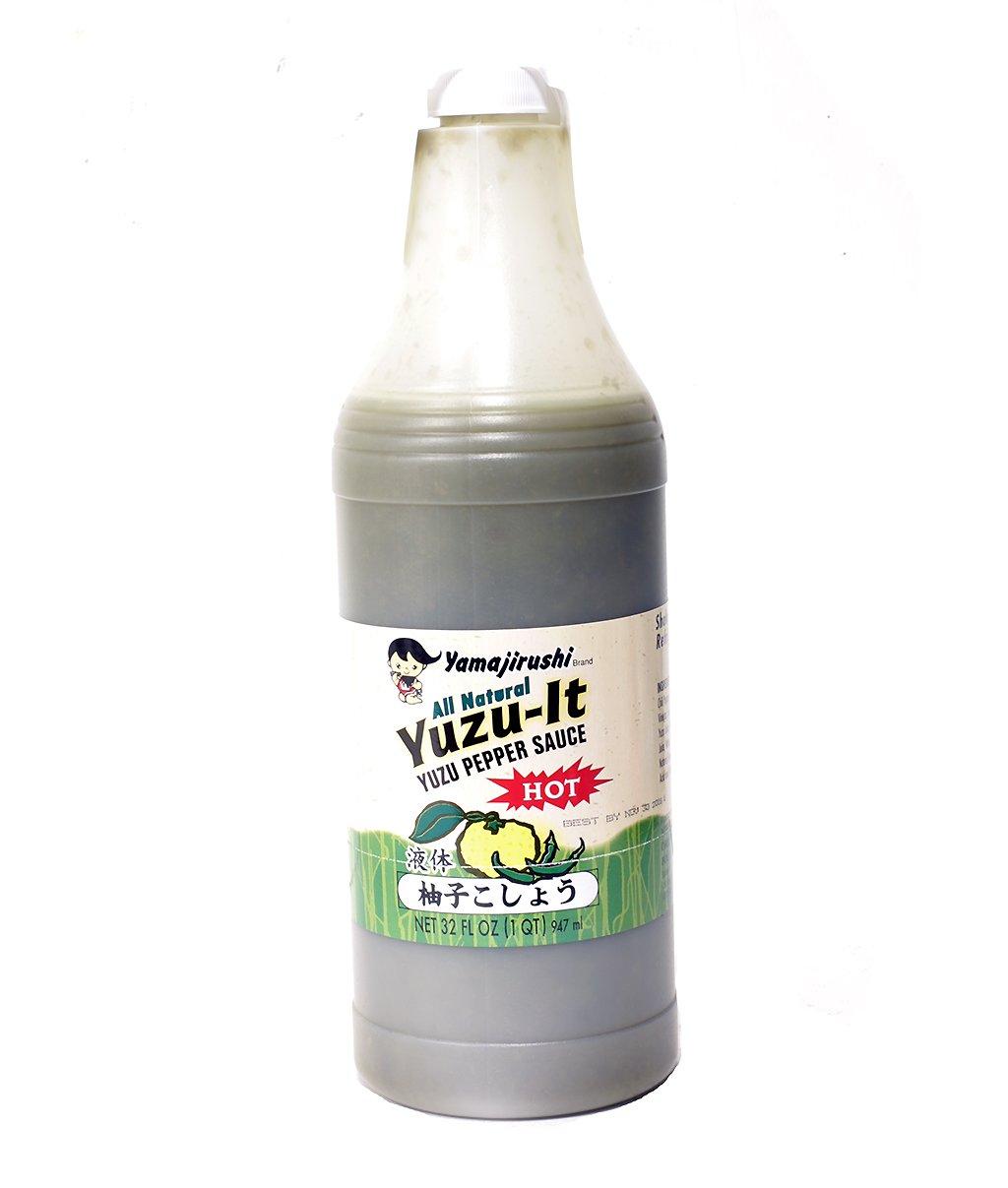 Yamajirushi All Natural Yuzu-It (Yuzu Pepper Hot Sauce) 32 FL OZ   947 ml