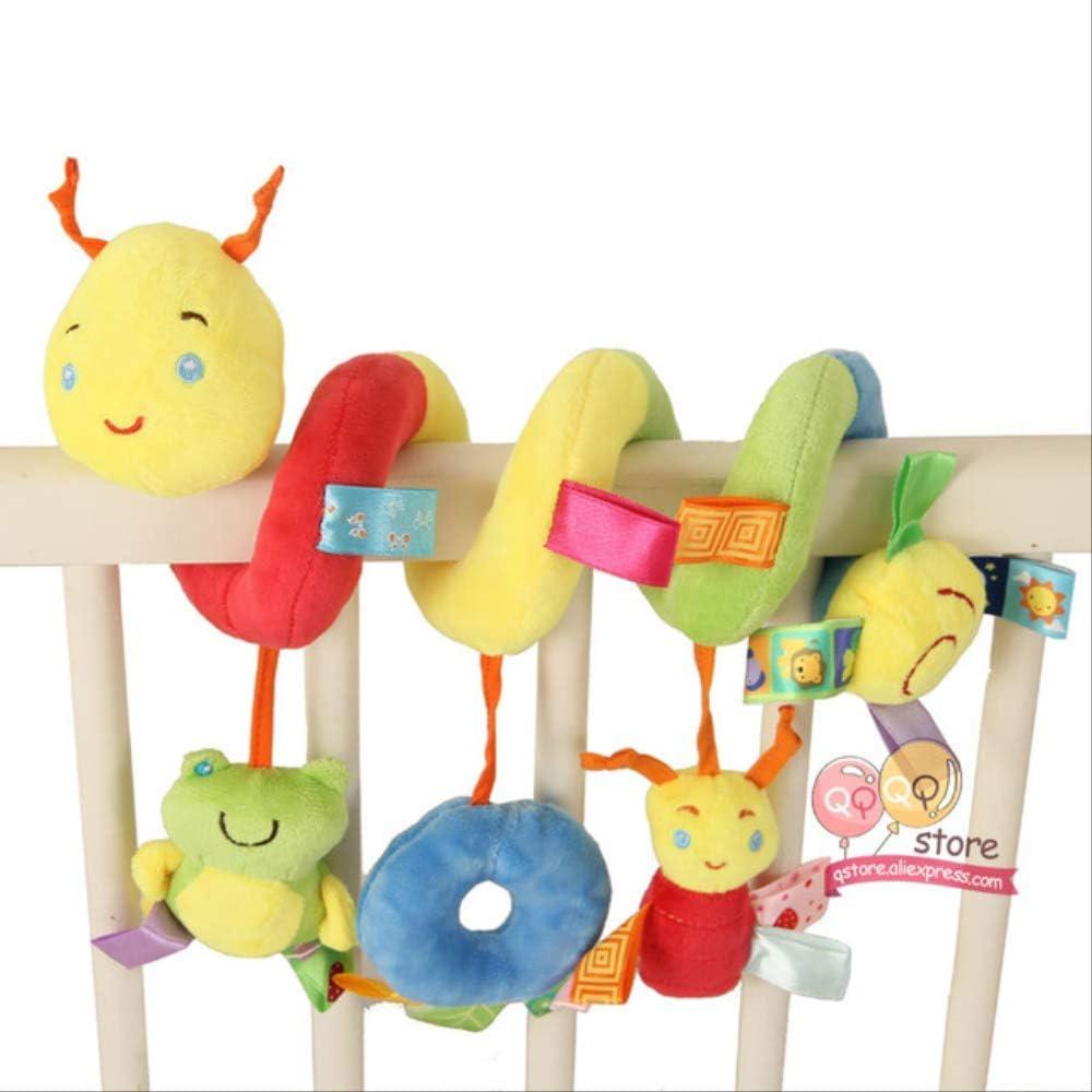 n\a Juguetes para Niños 0-12 Meses Felpa Sonajero Cuna Espiral Colgante Móvil Bebé Recién Nacido Cochecito Cama Animal Regalo Feliz Mono 25cm Gusano