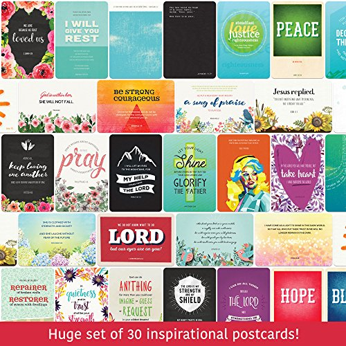 Christian Sympathy Cards - the Hope Deck - Set of 30 Inspirational Bible Verse Postcards - 4 x 6 (T-shirts Design Christian)