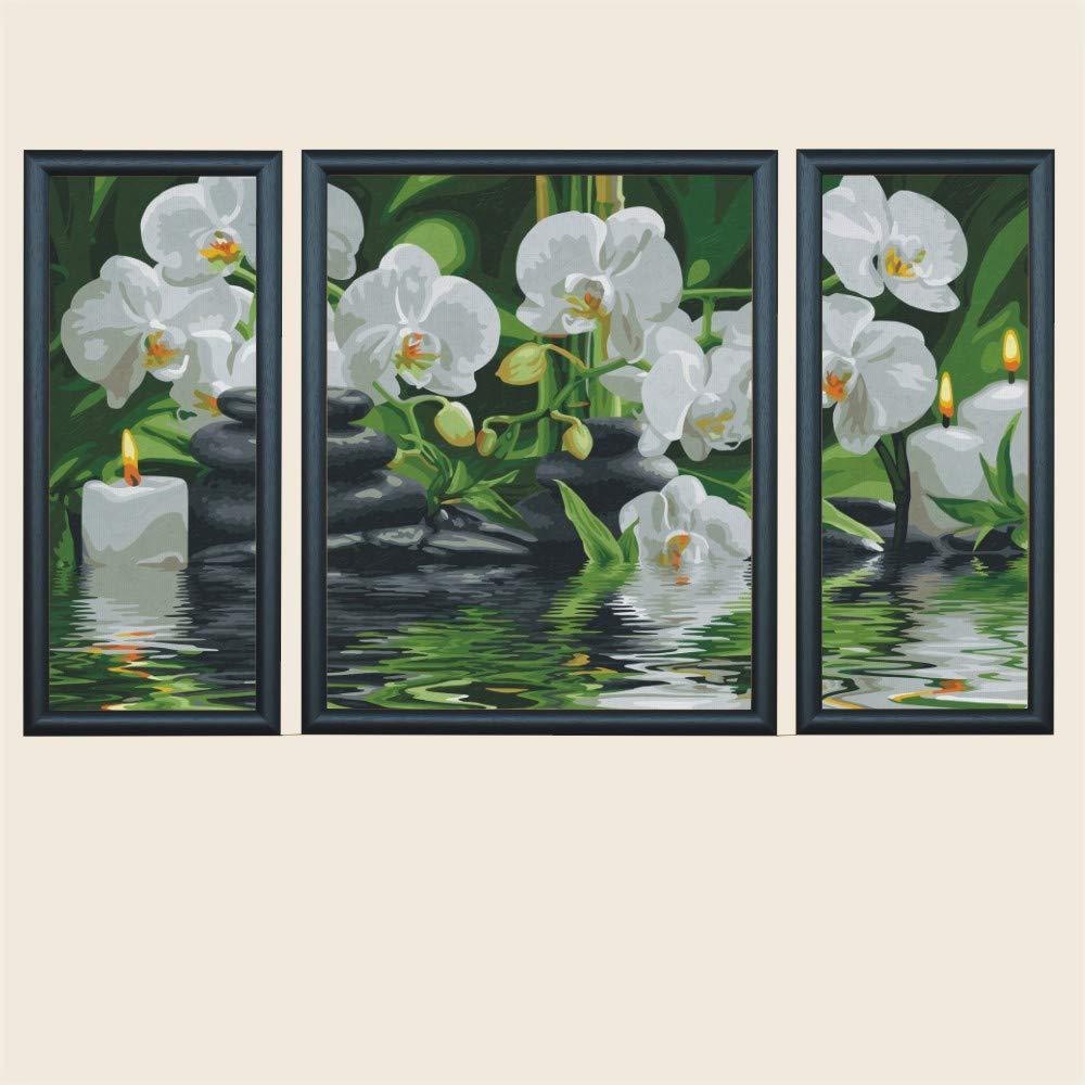 Amazon.de: Triptychon Bilderrahmen, Größe 50x80cm / 80x50cm Farbe ...