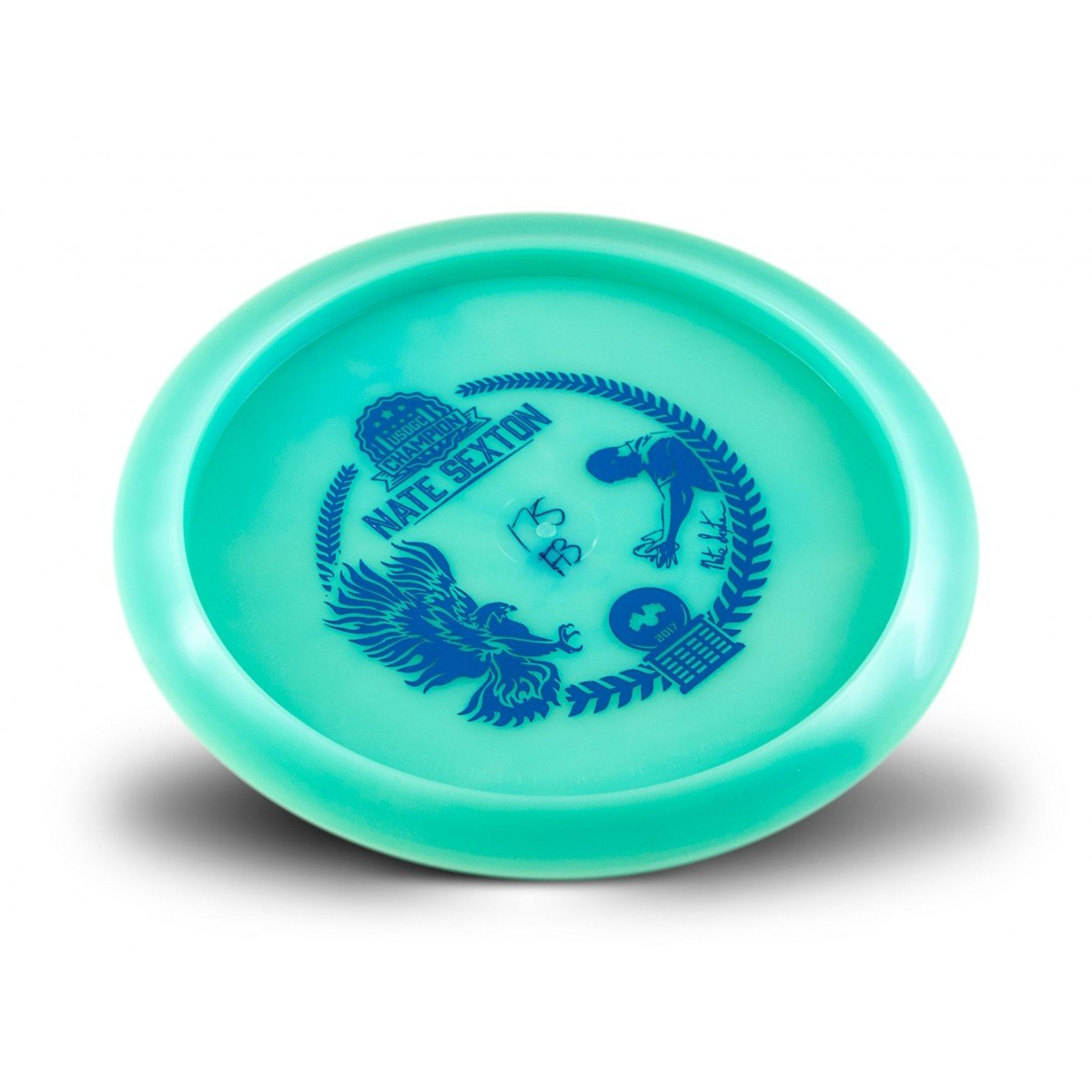 Innova Limited Edition Champion Glow Firebird Nate Sexton 2017 Commemorative Overstable Disc Golf Distance Driver (Color may vary) (Blue)