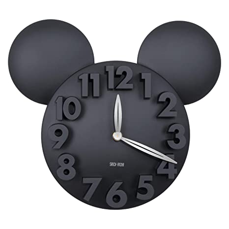 Sanch Ancha Mickey Mouse - Reloj de Pared con Pilas, para decoración del hogar,