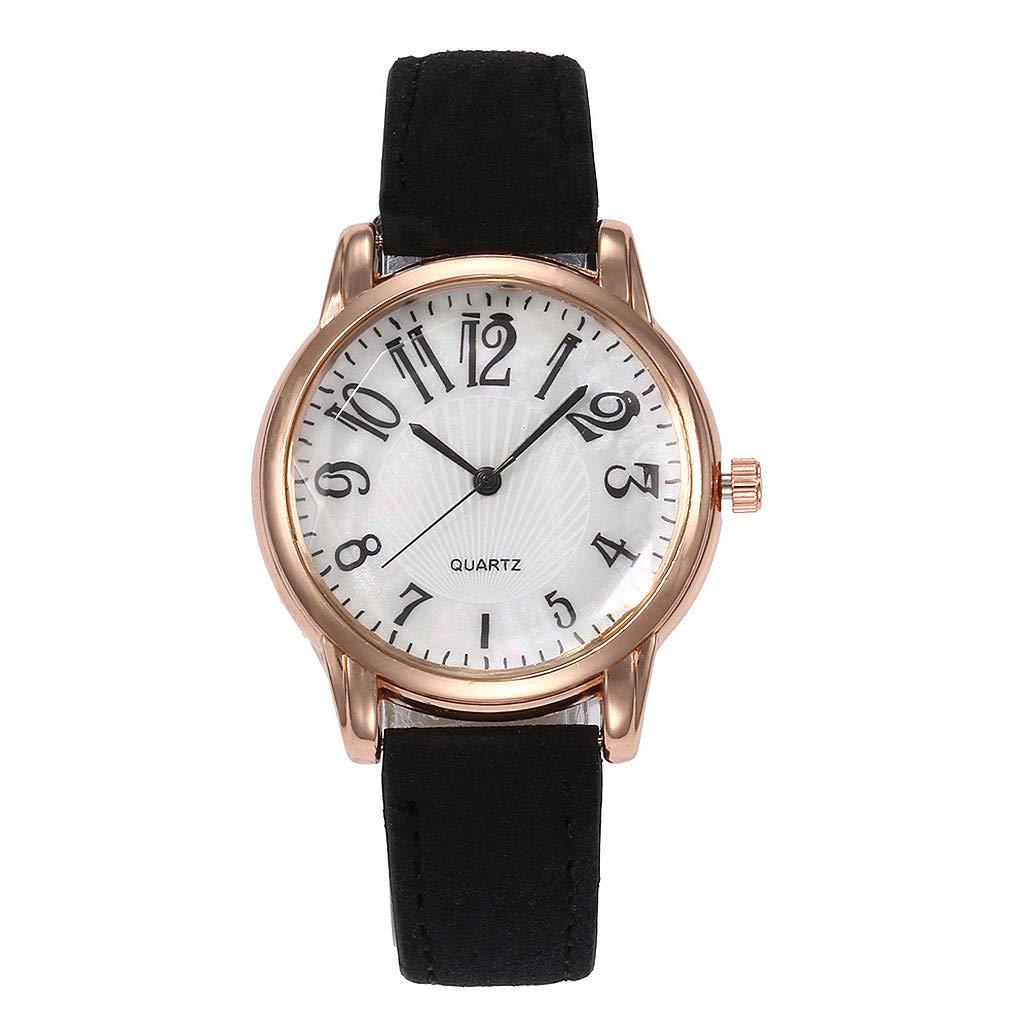 chengzhijianzhu_ Quartz Watches Ladies Fashion 2019 Letter Beautiful Simple Watch Ladies Leather Belt Watch Gift for Teen Girls Men Women Gift
