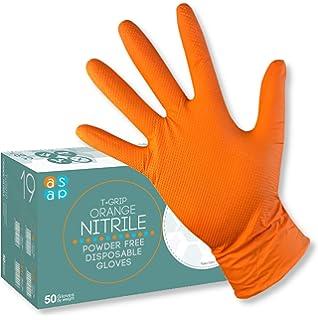 XX-Large // Size 11 nitrilo. negro Paquete de 50 // 25 pares Guantes desechables de nitrilo extra resistentes Gripster Skins EPI Cat 3 guantes sin polvo por Gocableties