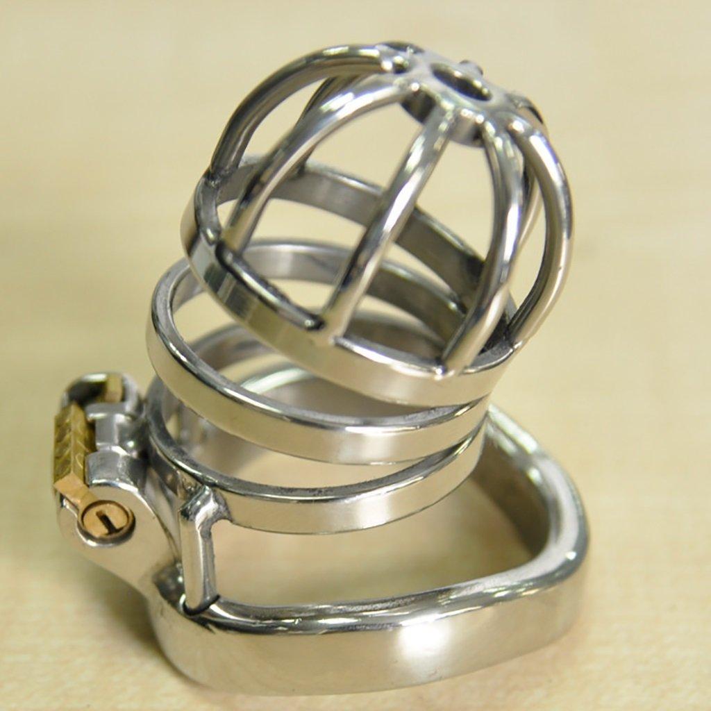 yu,Cinturón de castidad Chastity jaula, juguetes sexuales, bloqueo de cb6000 castidad de acero inoxidable de los hombres cb6000 de pantalones en cuclillas curvado snap ring productos para adultos A275 01 42e576