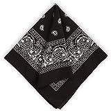 Large Bandana Handkerchiefs - Head Bandannas for Men & Women - Colorful Paisley Cowboy Bandana Pack