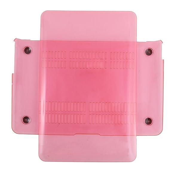 ... plástico Inicio del ordenador portátil Anti-polvo de Shell Duro funda protectora de Color de rosa Caliente Para MacBook Air DE 11 pulgadas: Electronics