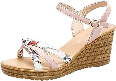 Malbaba Floral Wedge Platform Sandals