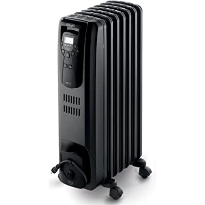 DeLonghi EW7507EB Oil Filled Radiator Heater Black 1500W