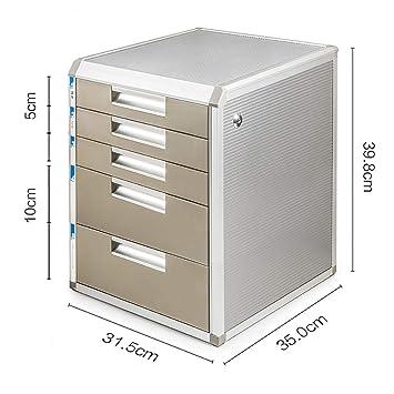 Archivadores de fichas Archivadores de oficina Archivador de almacenamiento Gabinete bajo Multifunción Con cajón de seguridad 5 pisos Archivo de papel de A4 ...